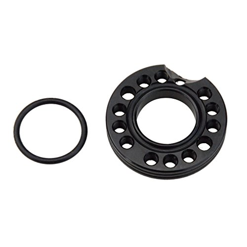 GOOFIT 28mm Carburateur Spacer Adapter Inname Manifold Spinner Plaat voor 50cc 70cc 90cc 125cc Sunl Taotao NST Roketa ATV Quad Pit Bike Zwart