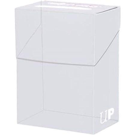 Asmodee - 81454 - Accessoire de jeu de cartes à jouer et à collectionner - Boite polydeck pour 80 deck protectors - blanc nacre