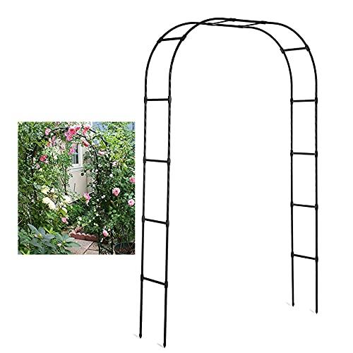 YYHJ Arcos de Jardin,Arco para Rosales,Decorativos pabellón pérgola,Plantas Trepadoras Metal pulverisado,Exterior Eventos pergolas de jardín (Negro)
