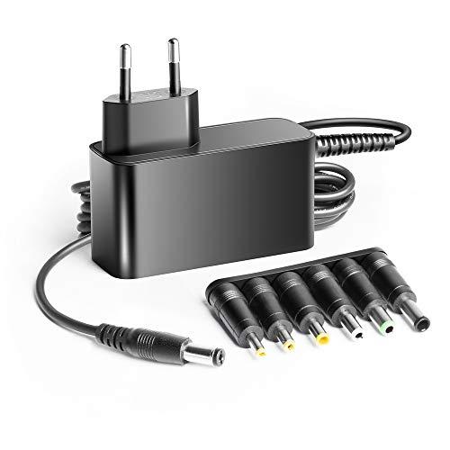KFD 12V 3A 2.5A Adaptador Cargador Universal para Tira LED, LED de la Pantalla, Impresora, escáner, Carcasas de Discos Duros externos, estación de Carga, portátil, Tablet, rúter, Pantallas TFT y LCD