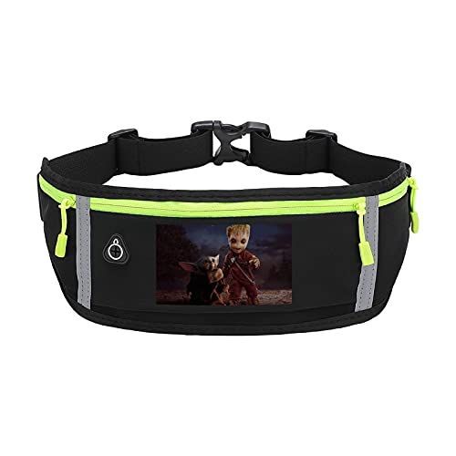 Baby Yoda Star Wars - Cinturón de cintura ajustable con gran capacidad, perfecto para correr, caminar, ciclismo, ejercicio al aire libre