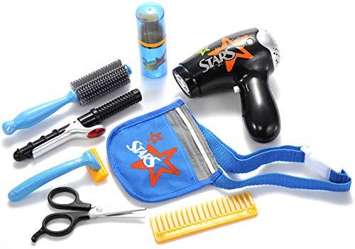 PowerTRC Beauty Fashion Salon Playset   Hairdryer Curling Iron   Tool Belt   Styling Accessories   Kids Fashion Toy