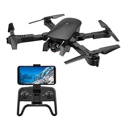 Folding Drone 4K HD doppia fotocamera telecomando ottica del flusso di posizionamento quattro assi Aircraft Giocattolo, con Auto-Seguire, Wifi in tempo reale funzione di trasmissione, adatto for i pri