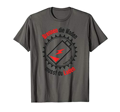 E Bike Rad E-Bike lustiger Spruch Elektrofahrrad Mann EBike T-Shirt