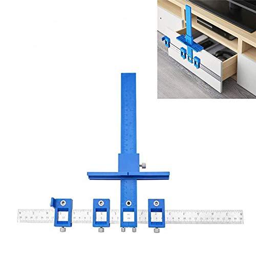 Perforador localizador taladro guía manga gabinete hardware plantilla herramienta de medición de madera perforación perforación agujero para manijas de puerta pomos cajón tire instalación