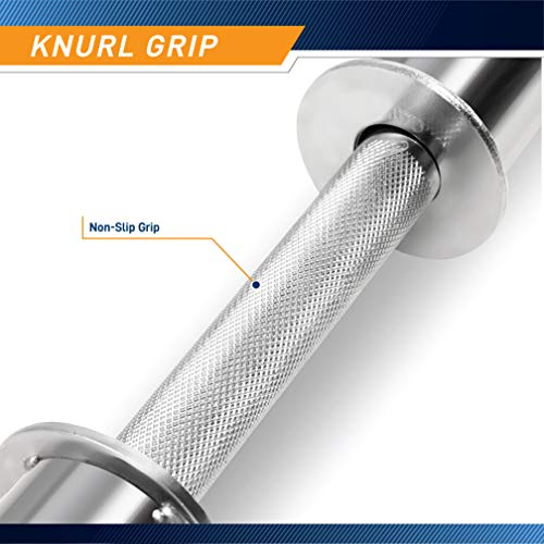 """Marcy Olympic Hollow Bar Kit Chrome Curl Bar Dumbbell Handles and Spring Collars ODC-21 chromed, 47"""" x 3"""" x 2"""""""