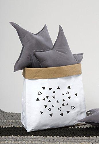 Water Resistant Paper Storage Basket, Bedroom Organization, Bathroom Storage, Monochrome Home Decor