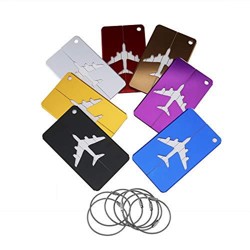 OTOTEC Gepäckanhänger aus Aluminium, 7 Stück, Metalltaschenanhänger für alle Gepäckstücke