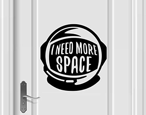 Ik heb meer ruimte Vinyl Decal, Spaceman Sticker, Astronaut Vinyl Decal, Space Sticker, Rocket Decal, Universe Decal, Planet Stickers