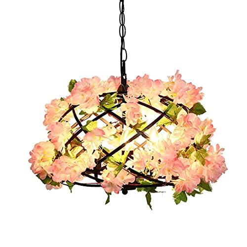 WEM Candelabros novedosos, candelabro de plantas, candelabro de restaurante, restaurante rural, restaurante, cafetería, bar, hierro, creativo, pájaro, nido, planta, candelabro, luz colgante