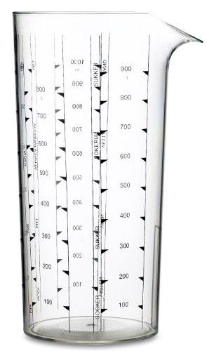 Rosti Mepal Messbecher, 1.0 L, Klar