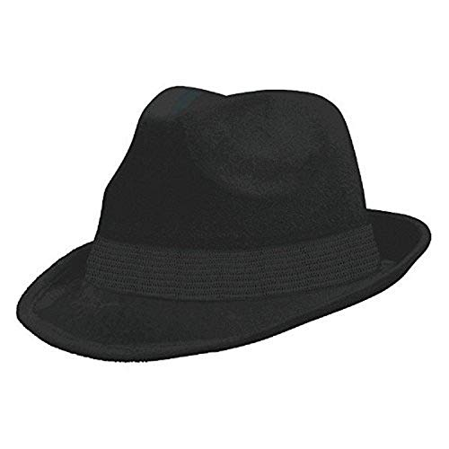 Amscan 255519.1 Black Velour Adult Fedora, 1ct