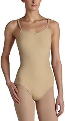 Capezio Women's Camisole Leotard With Adjustable Straps,Nude,X-Large