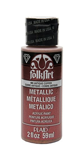 FolkArt Metallic Acrylic Paint in Assorted Colors (2 oz), 666, Antique Copper