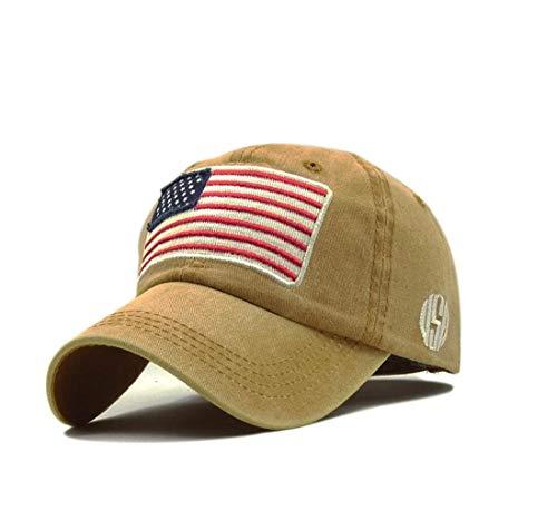 XibeiTrade Gorra de béisbol con bandera estadounidense...