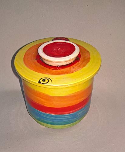 französische Wasserbutterdose für 250g Butter in regenbogen
