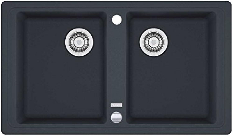 Franke Basis BFG 620 Graphit Granit-Spüle Abwaschbecken Dunkelgrau Küchenspüle