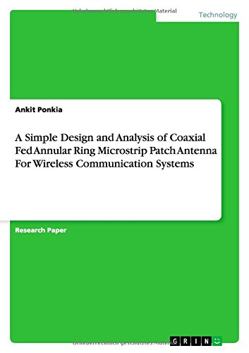 A Simple Design and Analysis of Coaxial Fed Annular Ring Microstrip Patch Antenna For Wireless Communication Systems