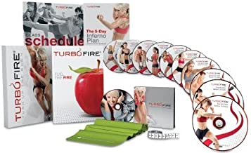 Turbofire Deluxe Workout Set of 3 Program Books (Turn Up The Burn, Fuel The Fire, The 5-Day Inferno Plan)