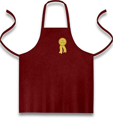 Green Turtle T-Shirts Number 1 Dad - Goldmedalie zum Vatertag Kochschürze, Grillschürze, Latzschürze One Size Bordeaux