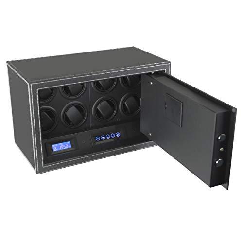 Safewinder® SmoothX 8 BLACK Uhrenbeweger für 8 Uhren & Safe