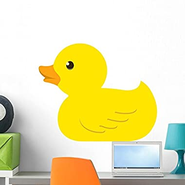 Wallmonkeys Rubber Duck Wall Decal Peel and Stick Graphic WM103814 (24 in W x 18 in H)