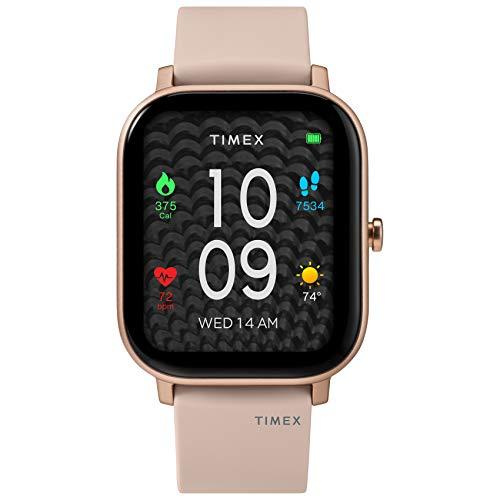 Timex Unisex Metropolitan S Smartwatch mit Silikonarmband 36mm Blush/Roségold-Ton