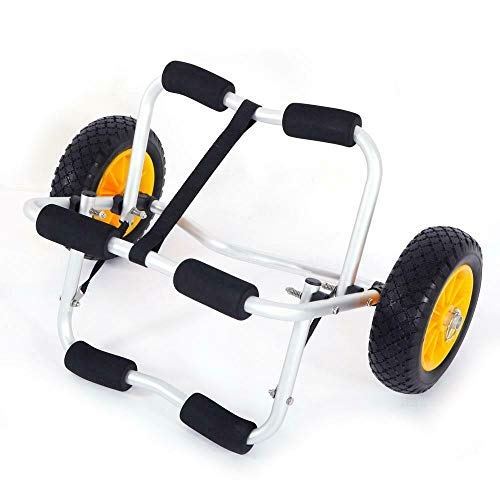 Premium WIsh Outlet Bend Kayak Canoe Boat Carrier Dolly Trailer Trolley Transport Cart Wheel Yellow