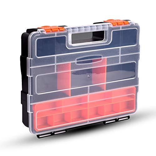 CMOISO Caja Tornillos Organizador, Cajas Organizadoras, Caja de Almacenamiento de 16 Compartimentos de Piezas Multifuncionales para Tornillos, Tuercas, Piezas, Objetos Pequeños
