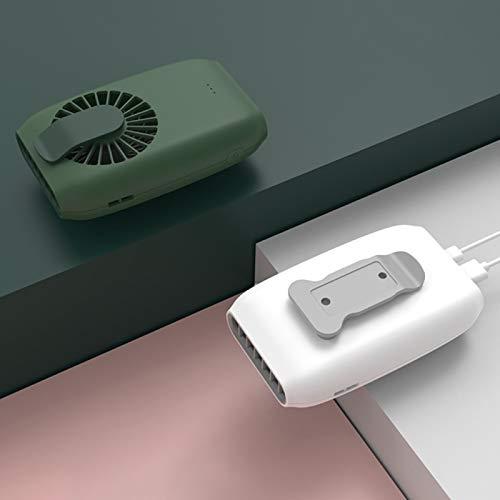 Yosemite Ventilador de mano Mini portátil colgante cintura cuello USB poder de carga con 3 velocidades Banco Ventilador de enfriamiento de escritorio - Rosa