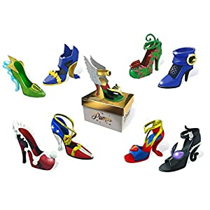cryptozoic entertainment dc pumps 12 blind boxes miniature 225 high heeled shoes inspired by the heroines and villainesses 9 unique characters 3 possible deco variants