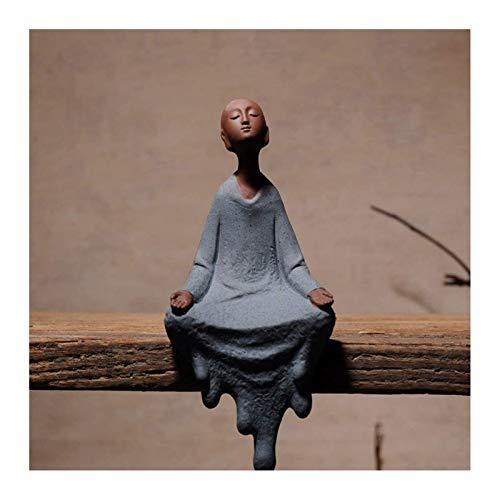 Glück Buddha-Statue Ornamente, Meditation Statue, Meditation Home Decor Garten Innen-Oder Außen Feng Shui Meditation Yoga Figuren,Zen