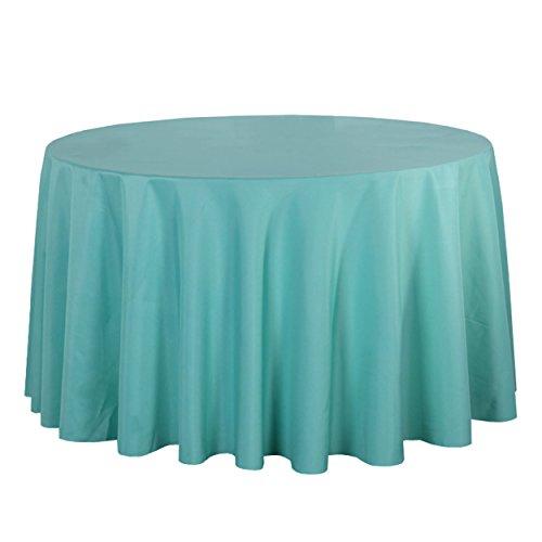LSHEL Nappe Rectangulaire Antitache Polyester Couleur Pure Nappe Ronde Décoration De Table/Fête, Vert Clair, Rond 220cm