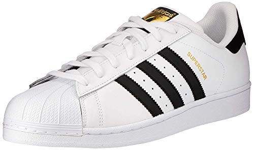 Adidas Unisex-Kinder Superstar J Low-Top, Weiß (Ftwr White/Core Black/Ftwr White), 38 EU