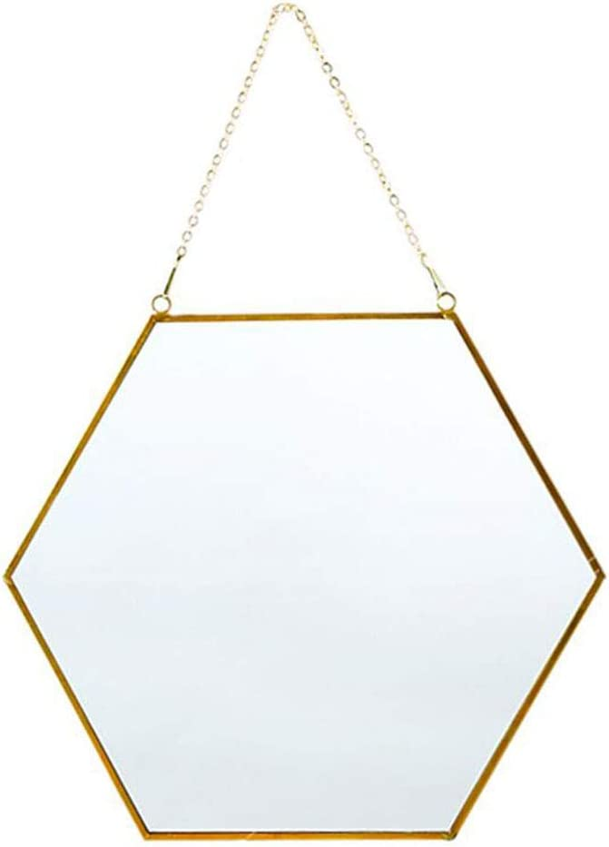 Jiabao Overseas parallel import regular item Selling and selling Hanging Wall Mirror Gold Bra Hexagon Mirrors with