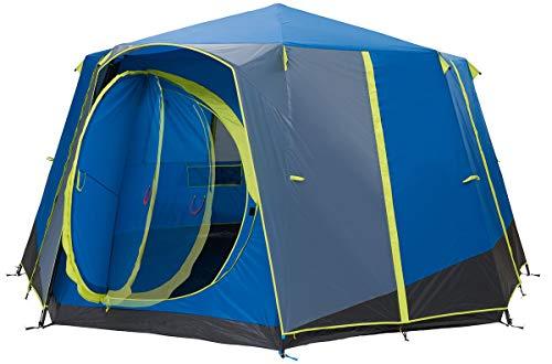 Coleman Unisex– Adult's Octagon Blue-Lime Tent, Multicoloured, 8 Personen