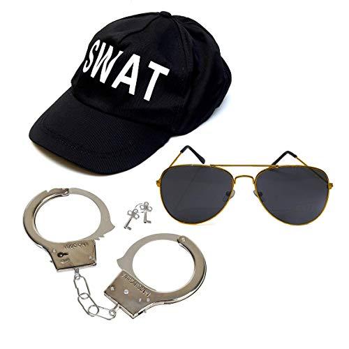 SWAT Team Fancy Dress - Juego de 3 piezas