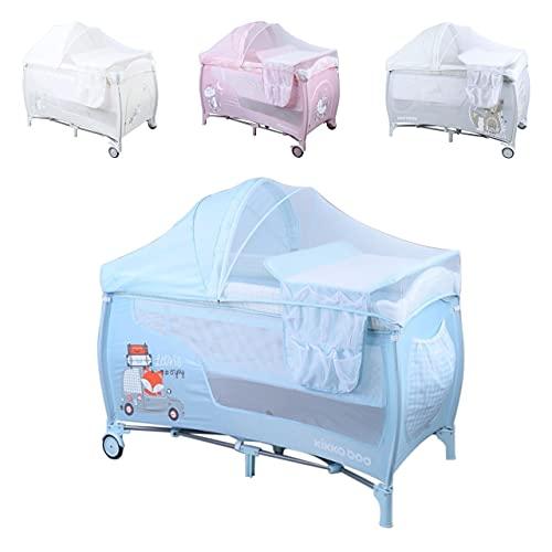 Kikkaboo, lettino da viaggio Sonno Plus, fasciatoio materasso, funzione dondolo, colorazione:blu