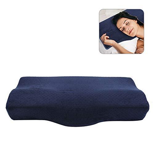 Memory Foam Pillow, Orthopädisches Kissen, Dekompressionskissen Memory Halsschutz Gesundheitskissen für Erwachsene bequem und atmungsaktiv für Schönheit und Wimpern