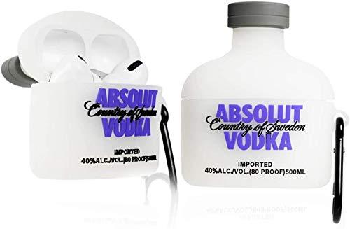 AirPods Cartoon-Schutzhülle, hübsches & süßes Cooles Design, modisches & modisches Cartoon-Bild, weiche Silikonhülle (AirPods Pro, Wodka)