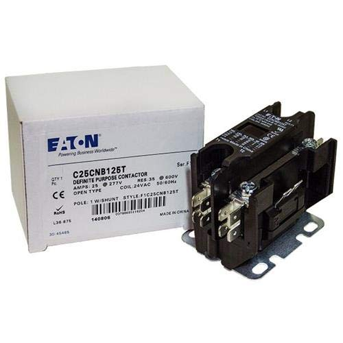 Square D 8910DP21V14 - Replaced by Eaton/Cutler Hammer Contactor, 1-Pole with Shunt, 25 Amp, 24 VAC Coil Voltage