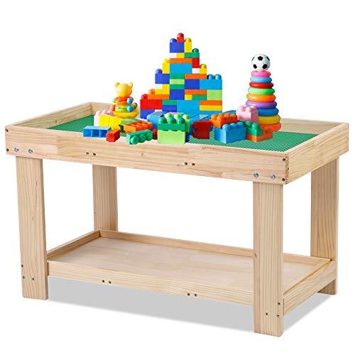 Kindersitzgruppe Sitzgruppe Kinder aus Holz Kinder Aktivität Tisch Abnehmbarer Baustein Tisch Kinder Holz Spieltisch Schreibtisch Kunsthandwerk Tisch Kindermöbel für Jungen Mädchen Lernen Schreibtisch