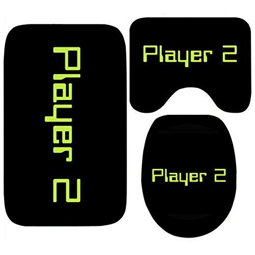 KEAINIDENI Badmat, grappige antislip douchemat voor badkamer PlayStation Controller toetsen Gaming WC tapijt tapijt spel gamer vloermat set badkamer, 40 x 60 cm 3 stuks