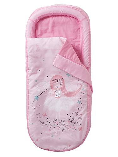 Vertbaudet Schlafsack, Mon Premier Readybed® mit integrierter Matratze und Kopfteil Fee der Vögel, Rosa