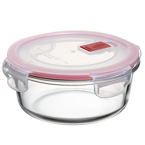 Macosa TA1161 Glazen vershouddozen, verschillende Maten Glazen containers voorraaddoos magnetron vriesdoos luchtdicht bewaardoos glazen doos keuken