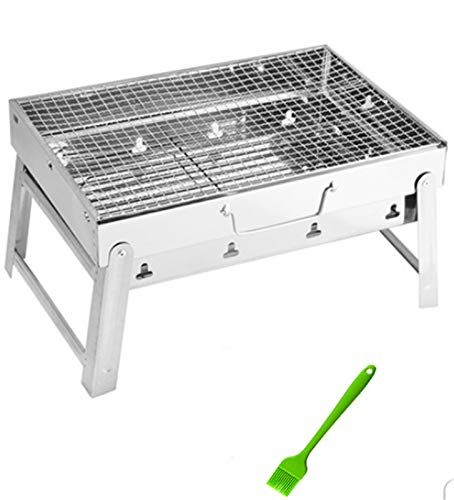 41eZN47+sWL. SL500  - MUBAY Holzkohlegrill BBQ für Picknick im Freien Tragbare Grillgrill Edelstahl BBQ Grill Non-Stick-Oberfläche Falten Grillgrill Grill Zubehör