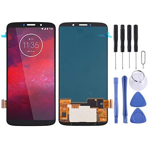 YIHUI Repare Repuestos Pantalla LCD y digitalizador Asamblea Completa for Motorola Moto Z3 Partes de refacción (Color : Black)