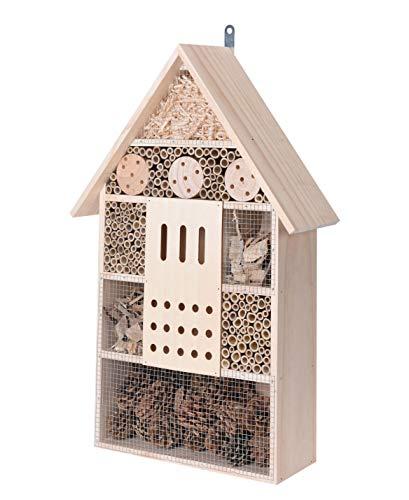 Spetebo Insektenhotel XXL zum aufhängen - 57 cm x 38 cm x 12 cm - Insektenhaus zum hängen