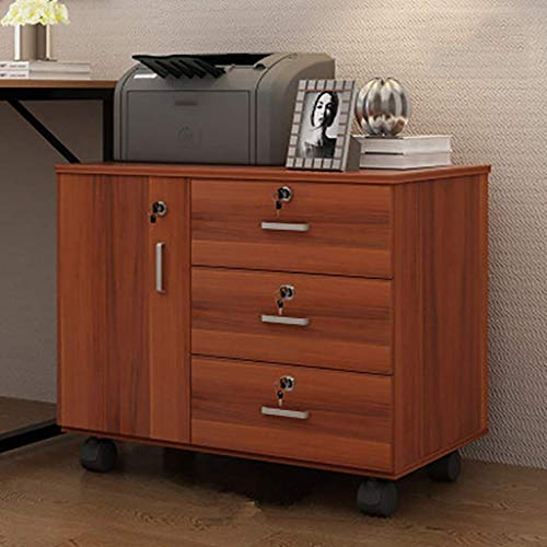 XBSXP Gabinete de Oficina de Escritorio Se Puede Mover con Cerradura Cajonera de Alta Capacidad Debajo de la Mesa Gabinete de Almacenamiento de Datos, B