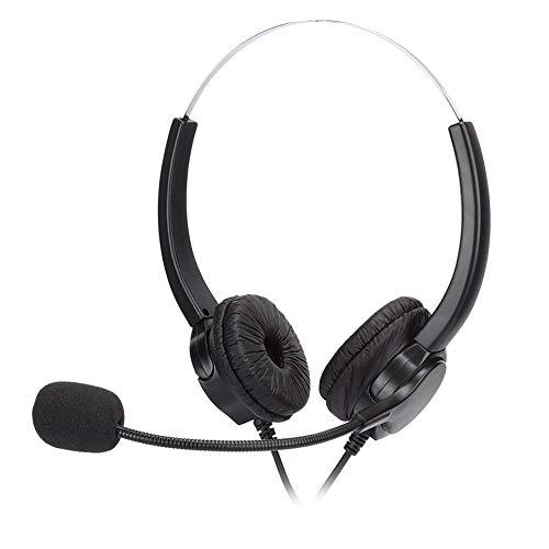 Auriculares biauriculares para centro de llamadas, cómodos auriculares para ordenador de oficina...